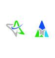 set of letter a dental logo template design vector image vector image