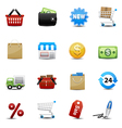 Shopping icons set vector | Price: 3 Credits (USD $3)