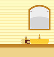 Single Lavatory With Mirrors vector image vector image