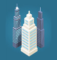 skyscrapers collection poster vector image vector image