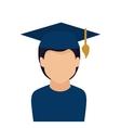 student graduation uniform icon vector image