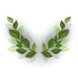 symmetrical pattern with tea leaves vector image