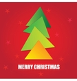 The simple geometric triangle form Christmas tree vector image vector image