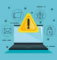 theft identity set icons vector image
