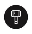 thor hammer icon hammer symbol vector image vector image