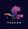 toucan bird gradient logo icon vector image vector image