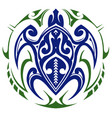 turtle tattoo print vector image vector image