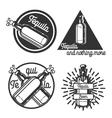 Vintage tequila emblems vector image