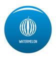 watermelon icon blue vector image vector image