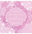 Wedding card on the grunge paper background vector image vector image