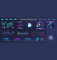 workflow graphics charts and diagrams dark vector image