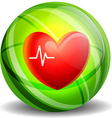 Heartbeat icon concept vector image