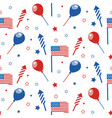 4th of july seamless pattern with festive vector image vector image