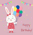a white hare in a dress and with a bow is standing vector image vector image