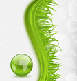 Abstract brochure with global planet and grass vector image vector image