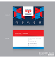 Abstract Business card Design Template vector image vector image