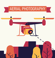 Aerial Photography with a Drone vector image vector image