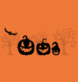 art banner for happy halloweendesign template vector image