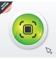Autofocus zone sign icon Photo camera settings vector image vector image