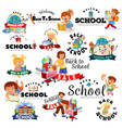 back to school set sale supplies stationery vector image
