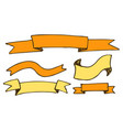 banners and ribbons hand drawn vector image vector image