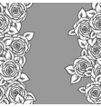 beautiful black and white seamless pattern with vector image vector image
