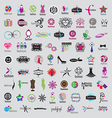 biggest collection logos fashion vector image