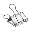 binder clip sketch vector image vector image