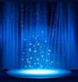blue stage with spotlight vector image vector image