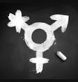 chalked of transgender symbol vector image vector image
