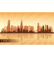 Chicago city skyline detailed silhouette vector image vector image
