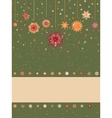 Christmas background with retro pattern EPS 8 vector image vector image