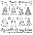 Christmas tree ballsdecortitlesBlack vector image vector image