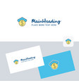 cloud dollar logotype with business card template vector image vector image