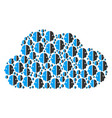 cloud mosaic of dual face icons vector image vector image