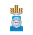 Coins on the scales vector image vector image
