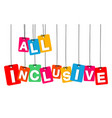 colorful hanging cardboard tags - all vector image vector image