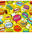 comics speech bubbles seamless pattern vector image vector image