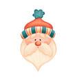 cute cartoon santa claus in red hat vector image