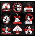 Dark Music Label Set vector image vector image