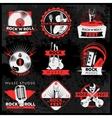 Dark Music Label Set vector image
