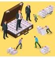 Debts on loans People gives back debts on loan vector image