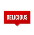 delicious red tag vector image vector image