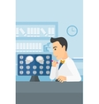Doctor checking MRI results vector image vector image