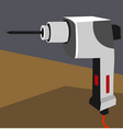 drilling machine vector image vector image
