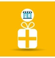 ecommerce store buy gift icon vector image vector image