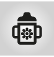Feeding cup icon design Baby bottle symbol web vector image vector image