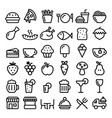 food cooking pub restaurant cafe icons vector image