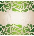 green vintage wallpaper vector image vector image