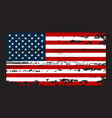 grunge flag usa in with grunge texture vector image